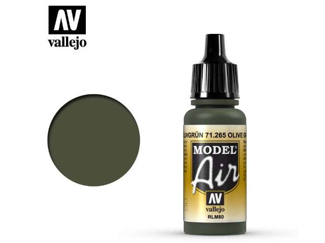 Vallejo 17ml MA265 Model Air - 265 Olive Green RLM80