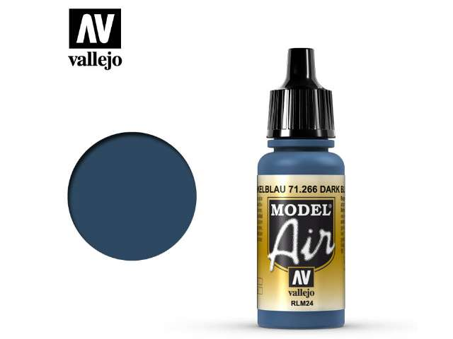 Vallejo 17ml MA266 Model Air - 266 Dark Blue RLM24