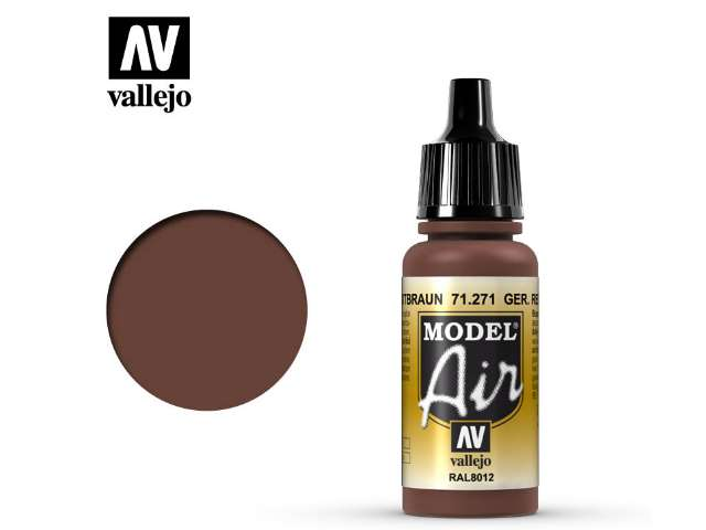Vallejo 17ml MA271 Model Air - 271 German Red Brown