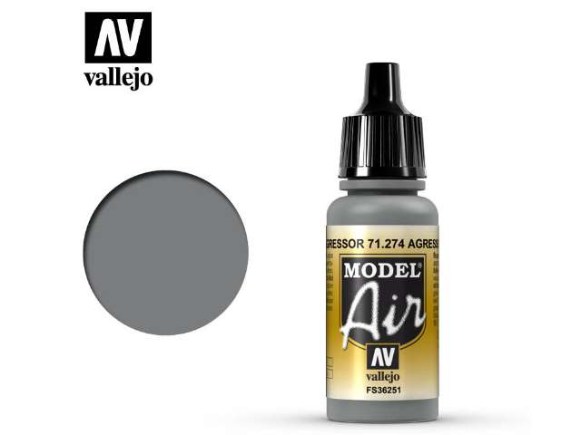 Vallejo 17ml MA274 Model Air - 274 Agressor Grey