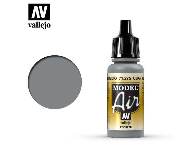 Vallejo 17ml MA275 Model Air - 275 USAF Medium Grey