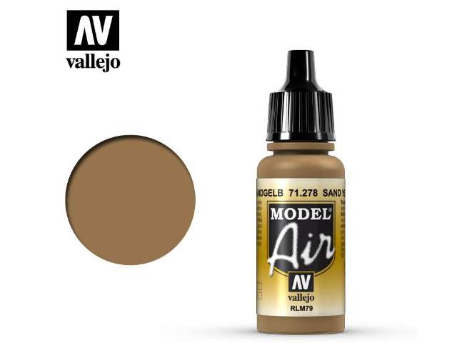 Vallejo 17ml MA278 Model Air - 278 Sand Yellow RLM79