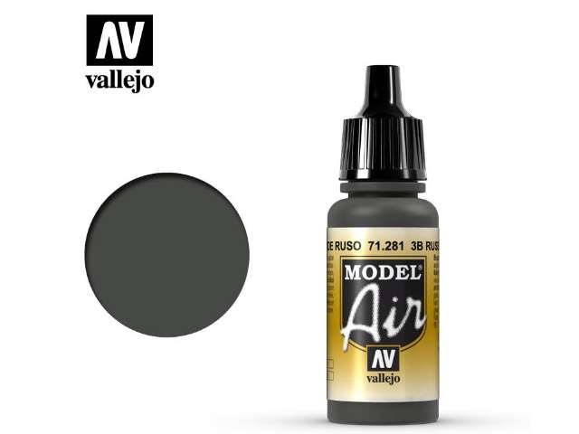 Vallejo 17ml MA281 Model Air - 281 3B Russian Green