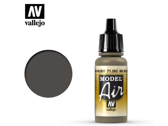 Vallejo 17ml MA282 Model Air - 282 6K Russian Brown