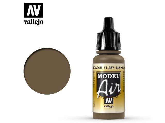 Vallejo 17ml MA287 Model Air - 287 IJA Khaki Brown