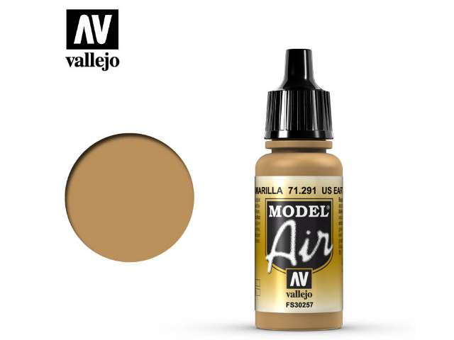 Vallejo 17ml MA291 Model Air - 291 US Earth Yellow