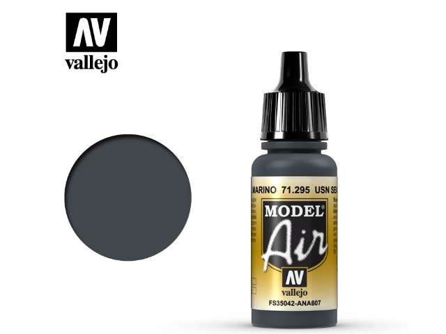 Vallejo 17ml MA295 Model Air - 295 USN Sea Blue