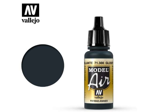 Vallejo 17ml MA300 Model Air - 300 Glossy Sea Blue