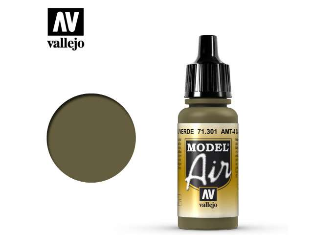 Vallejo 17ml MA301 Model Air - 301 AMT-4 Camouflage Green