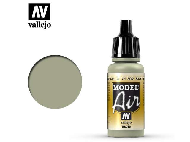 Vallejo 17ml MA302 Model Air - 302 Sky Type S