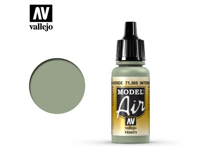 Vallejo 17ml MA305 Model Air - 305 Interior Grey Green