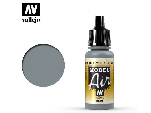 Vallejo 17ml MA307 Model Air - 307 BS Medium Sea Grey