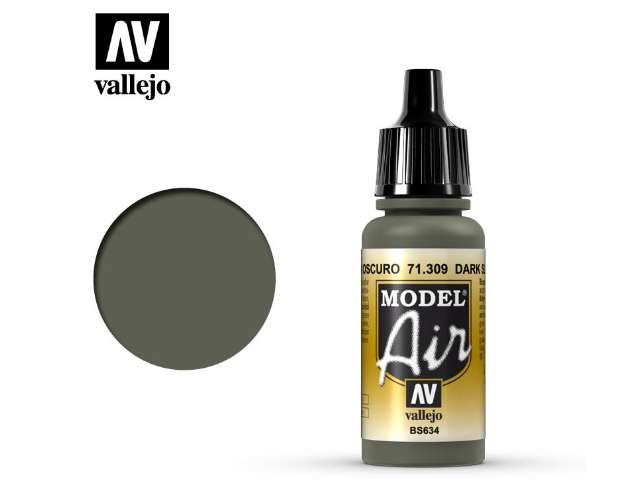 Vallejo 17ml MA309 Model Air - 309 Dark Slate Grey
