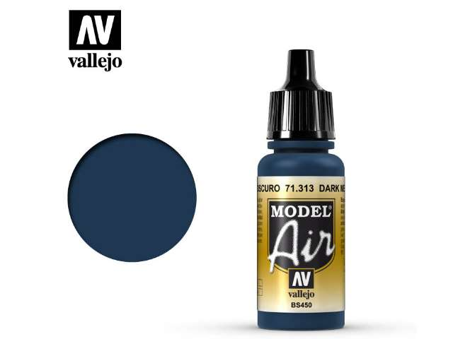 Vallejo 17ml MA313 Model Air - 313 Dark Mediterranean Blue