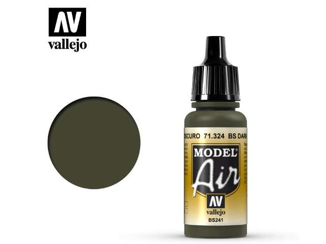 Vallejo 17ml MA324 Model Air - 324 BS Dark Green