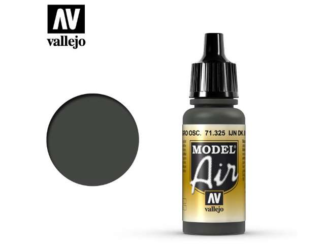 Vallejo 17ml MA325 Model Air - 325 IJN Dark Black Green