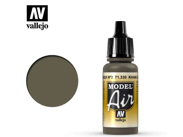 Vallejo 17ml MA330 Model Air - 330 Khaki Green Num.3