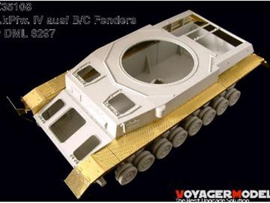 Voyager 1/35 PE35108 Photo Etched set for Pz.kPfw.IV ausf B/C Fenders (DML6297 )