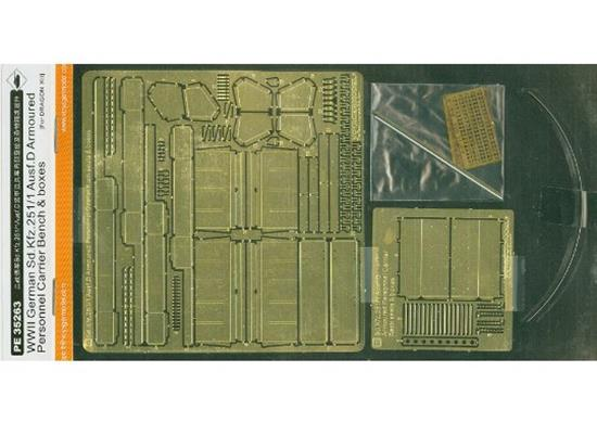 Voyager Photoetch Set For WWII German Sd.Kfz.251/1 Ausf.D Armoured Personnel Carrier Back seats & boxes (For DRAGON Kit)