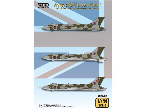 Wolfpack Design 1/144 WD14401 Avro 698 Vulcan Part.1 Decals