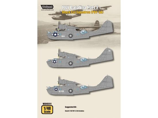 Wolfpack Design 1/48 WD48011 PBY Catalina Part.2 Decals - Black Cat Squadron PBY-5A