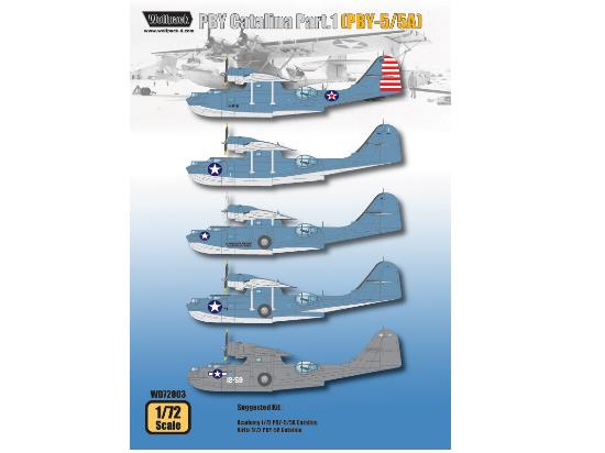 Wolfpack Design a72 WD72003 PBY Catalina Part.1 (PBY-5/5A) Decals
