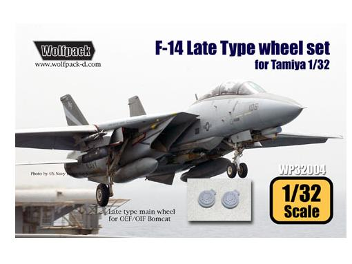 Wolfpack Design 1/32 WDWP32004 F-14 Late type wheel set (for Tamiya)