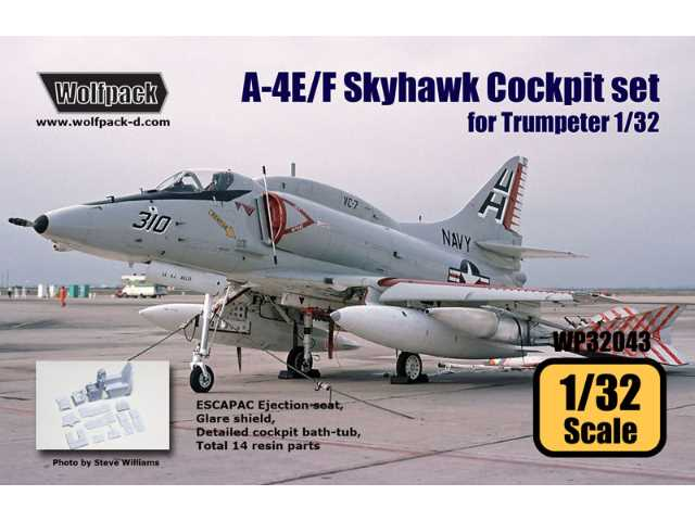 Wolfpack Design 1/32 WP32043 A-4E/F Skyhawk Cockpit Set for Trumpeter Model