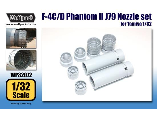 Wolfpack Design 1/32 WP32072 F-4C/D Phantom II J79 Engine Nozzle set