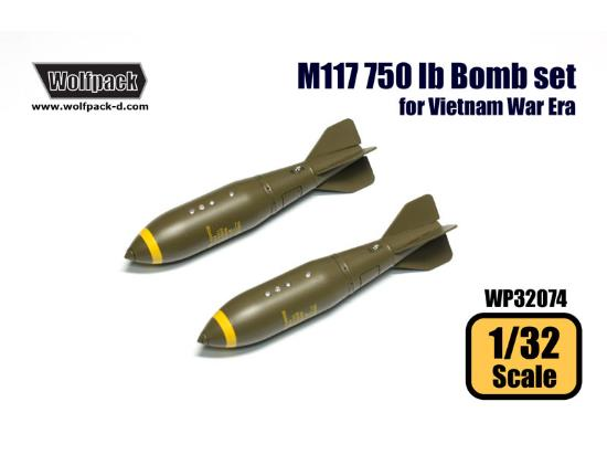 Wolfpack Design 1/32 WP32074 M117 750 lb Bomb set for Vietnam War Era