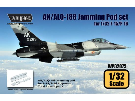 Wolfpack Design 1/32 WP32075 AN/ALQ-188 Jamming Pod set for 1/32 F-15/F-16 Aggressor