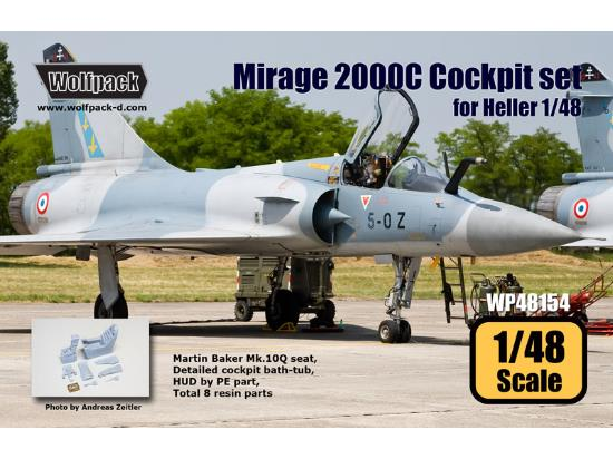Wolfpack Design 1/48 WP48154 Mirage 2000C Cockpit set for Heller kit