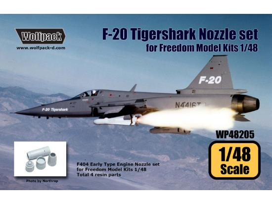 Wolfpack Design 1/48 WP48205 F-20 Tigershark F404 Engine Nozzle set for Freedom Kit
