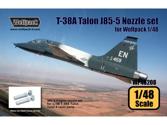 Wolfpack Design 1/48 WP48208 T-38A Talon J85-5 Engine Nozzle set