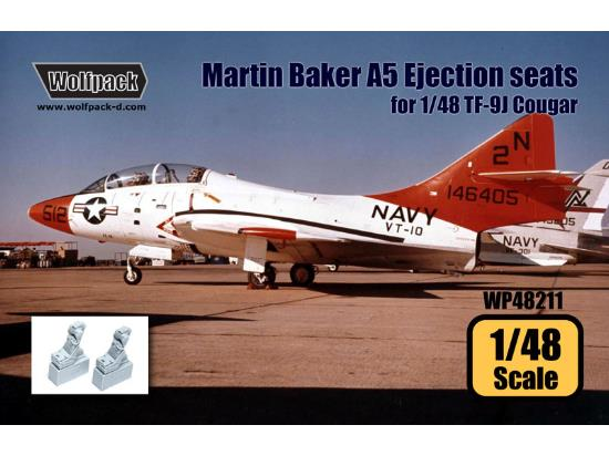 Wolfpack Design 1/48 WP48211 Martin Baker A5 Ejection seat set for TF-9J Cougar