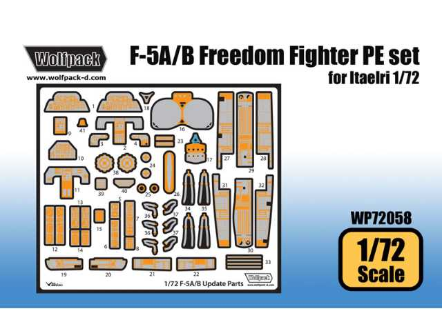 Wolfpack Design 1/72 WP72058 F-5A/B Freedom Fighter Update PE Set for Italeri Model