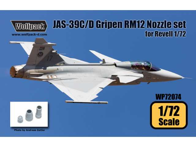 Wolfpack Design 1/72 WP72074 JAS-39C/D Gripen RM12 Engine Nozzle set for Revell Model