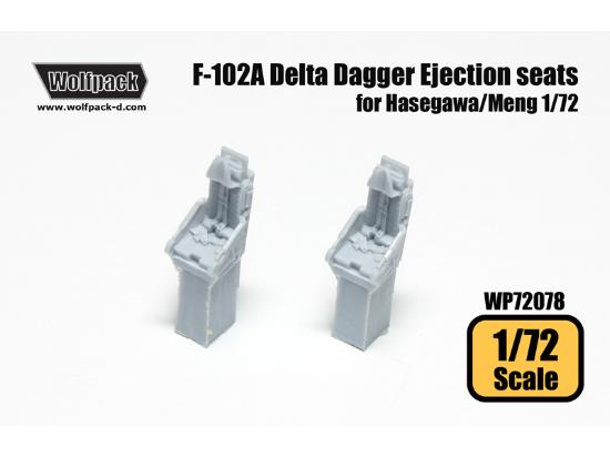 Wolfpack Design 1/72 WP72078 F-102A Delta Dagger Ejection seat set for Hasegawa/Meng