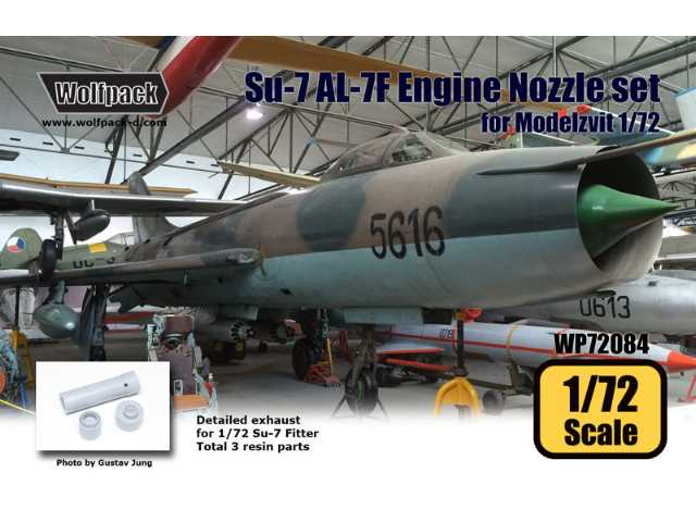 Wolfpack Design 1/72 WP72084 Su-7 Fitter AL-7F Engine Nozzle Set
