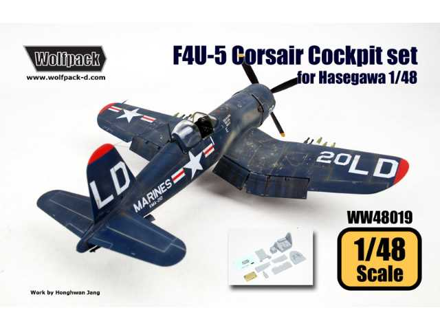 Wolfpack Design 1/48 WW48019 Cockpit set for F4U-5 Corsair