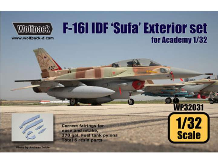 Wolfpack Design 1/32 WP32031 F-16I IDF 'Sufa' Exterior set for Academy