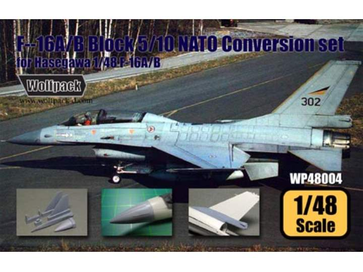 Wolfpack Design - F-16A/B Block 10 'NATO' Conversion set (for Hasegawa 1/48) 1/48 WP48006