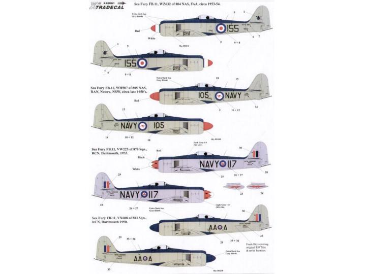 Xtradecal 1/48 48061 Hawker Sea Fury FB 11 (4)