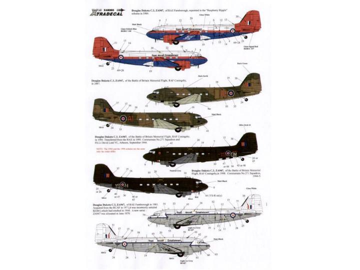 Xtradecal 1/48 48065 C-47 Dakota, the History of ZA947