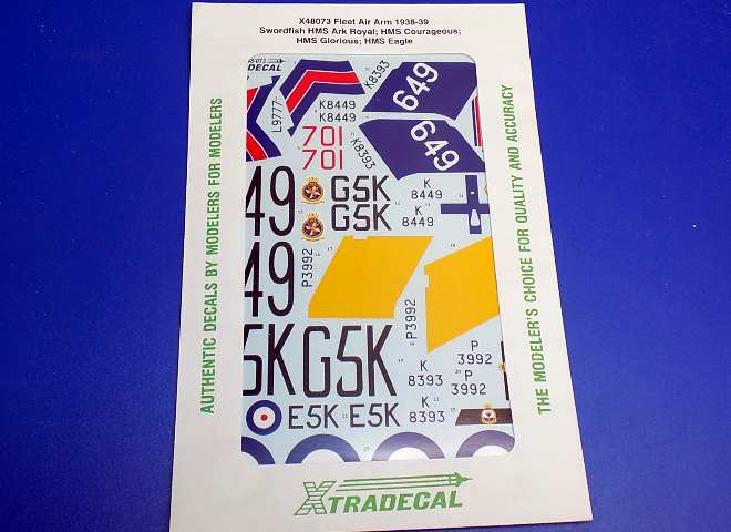 Xtradecal 1/48 48073 Fleet Air Arm Swordfish 1938-39