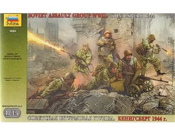 Zvezda 1/35 3509 Soviet Assault Group WWII Konigsberg 1944