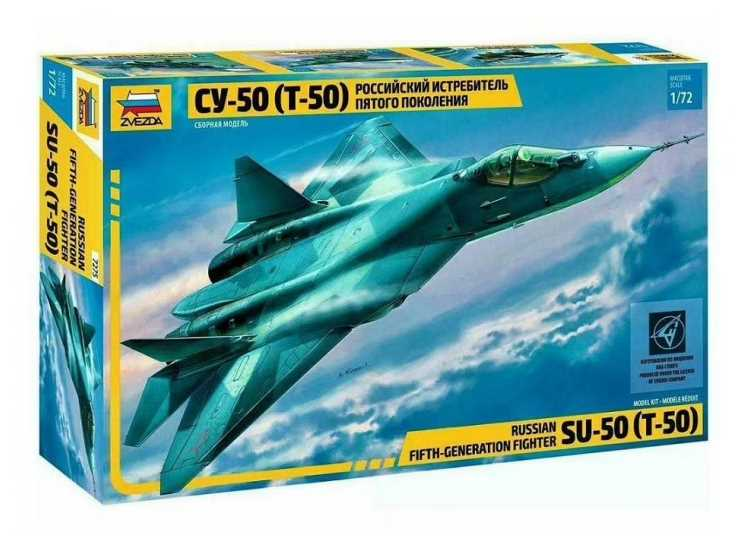 Zvezda 1/72 7275 Sukhoi T-50 Russian Stealth Fighter