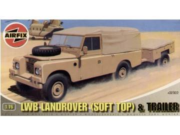 Airfix - LWB Landrover (soft top) and Trailer 1/76 02322