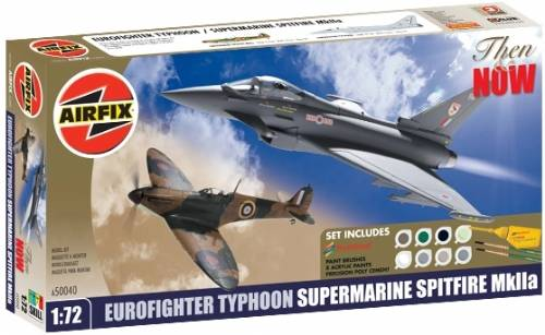 Airfix Then and Now Gift Set -  Eurofighter Typhoon & Spitfire 1/72 50040