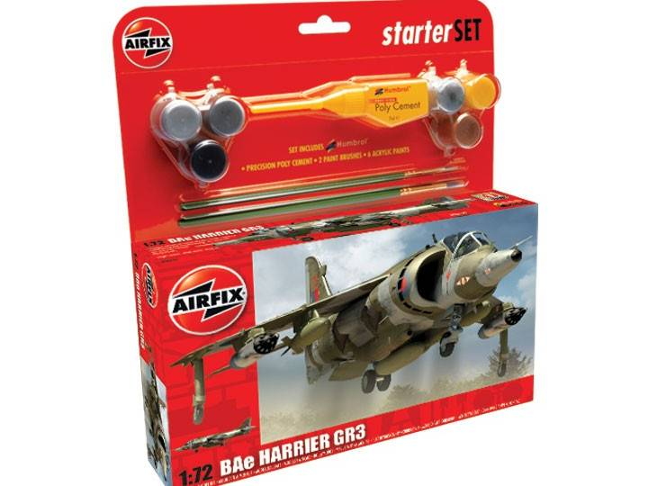 Airfix - Harrier Gr3 Gift Set 1/72 50093
